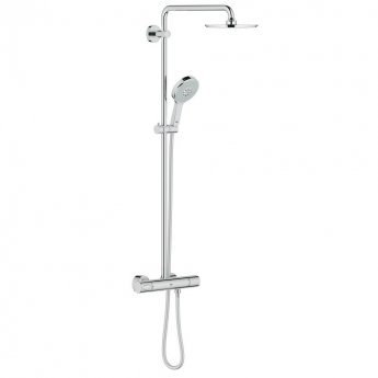 Grohe Rainshower 210mm Thermostatic Bar Mixer Shower with Shower Kit - Chrome