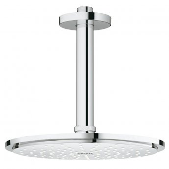 Grohe Rainshower Cosmopolitan 210mm Shower Head with Ceiling Arm - Chrome