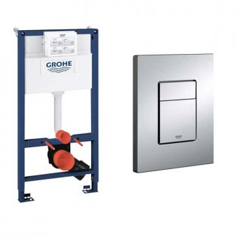 Grohe Rapid SL 2-in-1 Toilet Frame 985mm H x 500mm W and Flush Plate for WC
