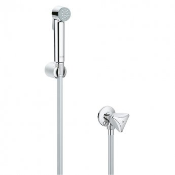 Grohe Tempesta-F Douche Trigger Spray with Wall Holder and Angle Valve 1 Spray Pattern - Chrome