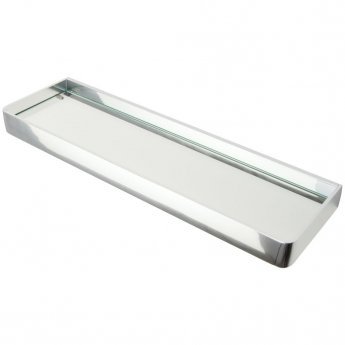 Haceka Aline Glass Shelf - Polished Silver