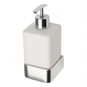 Haceka Aline Ceramic Soap Dispenser - Polished Silver