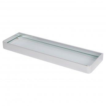 Haceka Aline Glass Shelf - Brushed Silver