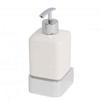 Haceka Aline Ceramic Soap Dispenser - Brushed Silver