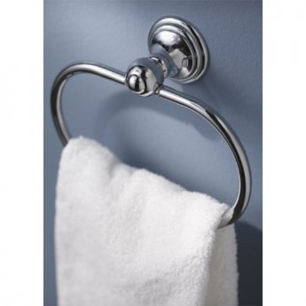 Haceka Allure Towel Ring Holder - Chrome