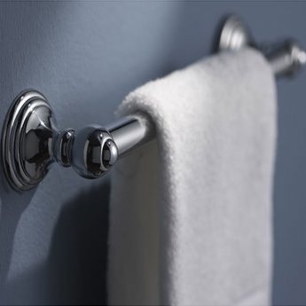 Haceka Allure Towel Rail, 362mm Wide, Chrome