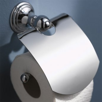 Haceka Allure Toilet Roll Holder with Lid, Chrome