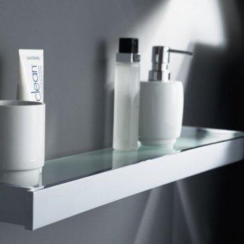Haceka Edge Glass Shelf, 625mm Wide, Chrome