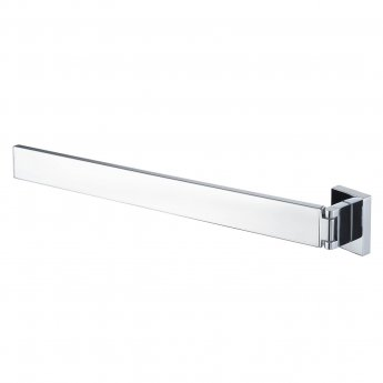 Haceka Edge Adjustable Towel Rail, 392mm Wide, Chrome