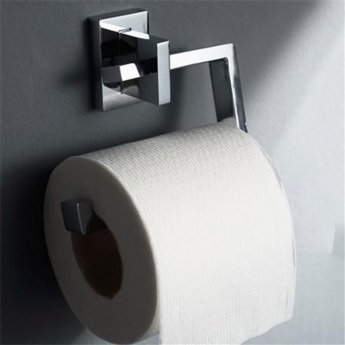 Haceka Edge Toilet Roll Holder, Chrome