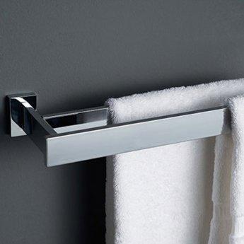 Haceka Edge Towel Rail Double 625mm Wide, Chrome