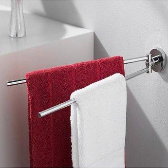 Haceka Kosmos Adjustable Towel Rail, 461mm Wide, Chrome