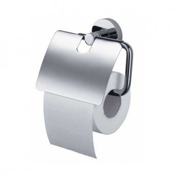 Haceka Kosmos Toilet Roll Holder with Lid Chrome