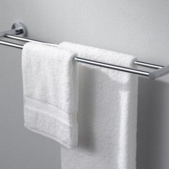 Haceka Kosmos Double Towel Rail, 613mm Wide, Chrome