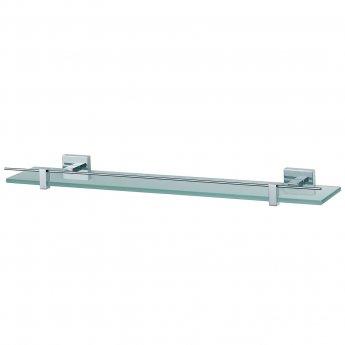 Haceka Mezzo Glass Shelf, 600mm Wide, Chrome