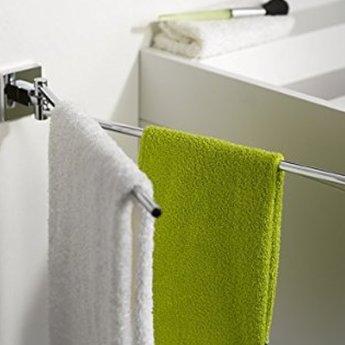Haceka Mezzo Adjustable Towel Rail, 421mm Wide, Chrome