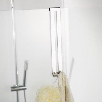 Haceka Selection Double Long Robe Hook, Polished Silver