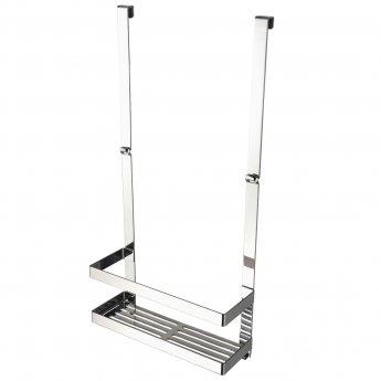 Haceka Selection Shower Basket, Polished Silver