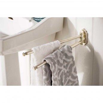Haceka Vintage Adjustable Towel Rail - Silver