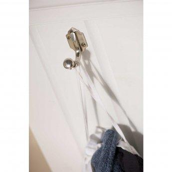 Haceka Vintage Double Robe Hook - Silver