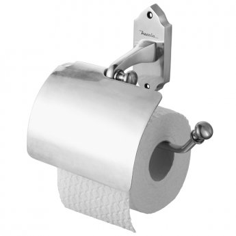 Haceka Vintage Toilet Roll Holder with Lid - Silver