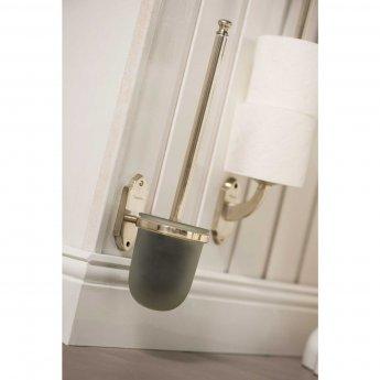 Haceka Vintage Wall Mounted Toilet Brush Holder - Silver