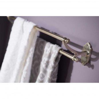 Haceka Vintage Double Towel Rail - Silver