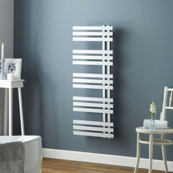 Heatwave Cobham Designer Heated Towel Rail 1200mm H x 500mm W - Chrome
