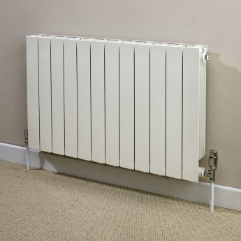 Heatwave Hanworth Horizontal Designer Aluminium Radiator 440mm H x 828mm W - 10 Sections