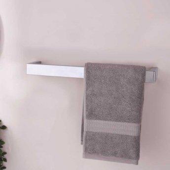 Heatwave Elcot Electric Designer Square Towel Rail Closed Ended 40mm H x 450mm W - Chrome