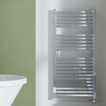 Heatwave Square Electric Designer Towel Rail 1200mm H x 600mm W - Chrome