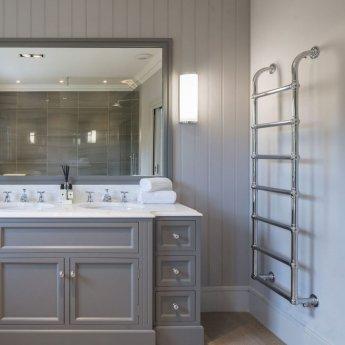 Heatwave Upton Victorian Traditional Towel Rail 900mm H x 500mm W - Chrome
