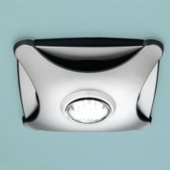 HiB Air Star Bathroom Fan With Low Energy LED Illumination Matt Silver 155mm H x 155mm W x 43mm D