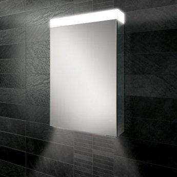 HiB Apex 50 Aluminium Bathroom Cabinet with Mirrored Sides 750mm H X 500mm W