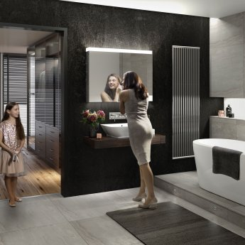 HiB Apex 100 Aluminium Bathroom Cabinet with Mirrored Sides 750mm H X 1000mm W