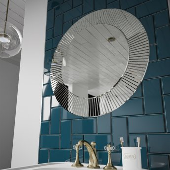 HiB Arte 60 Designer Round Bathroom Mirror 600mm Diameter