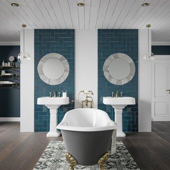 HiB Arte 80 Designer Round Bathroom Mirror 800mm Diameter