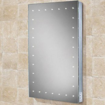 HiB Astral Demistable LED Bathroom Mirror 700mm H x 500mm W