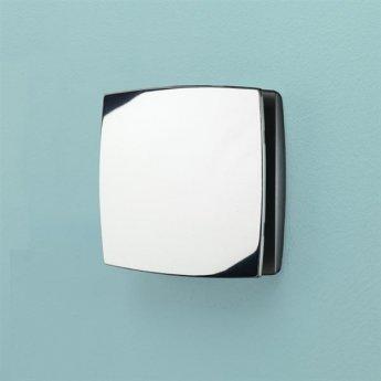 HiB Breeze Wall Mounted Chrome Bathroom Fan With Timer 152mm High x 152mm Wide x 33mm Deep