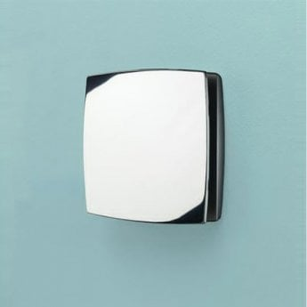 HiB Breeze Wall Mounted Bathroom Fan With Timer and Humidity Sensor 152 H x 152mm W x 33mm D