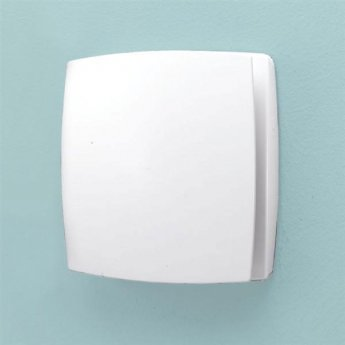 HiB Breeze Wall Mounted SELV Bathroom Fan 152mm H X 152mm W X 33mm D - White