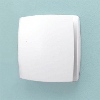 HiB Breeze Wall Mounted SELV Bathroom Fan 152mm H X 152mm W X 33mm D - White