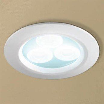 HiB Cool White LED Bathroom Showerlight White 77mm Diameter
