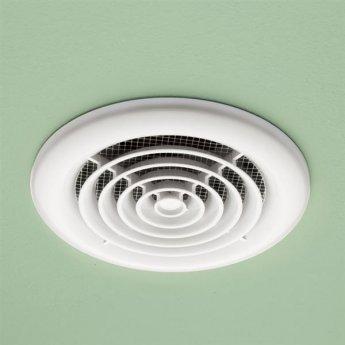 HiB Cyclone Wet Room Inline Non Illuminated White Fan 145mm Diameter