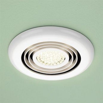 HiB Cyclone Wet Room Inline Fan With Built Warm White LED 145mm Diameter