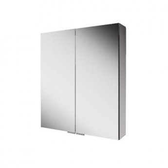 HiB Eris 60 Double Door Aluminium Cabinet with Mirrored Sides 700mm H x 600mm W