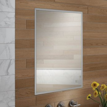 HiB Essence 50 Aluminium Single Door Bathroom Cabinet 730mm H x 530mm W x 125mm D
