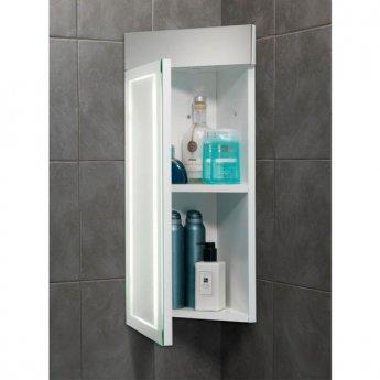 HiB Minnesota LED Illuminated Bathroom Cabinet 630mm H x 300mm W x 180mm D