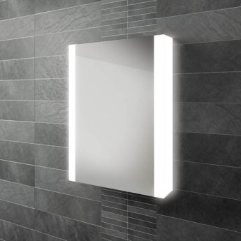 HiB Paragon 50 Aluminium LED Single Door Bathroom Cabinet 700mm H x 564mm W x 140mm D