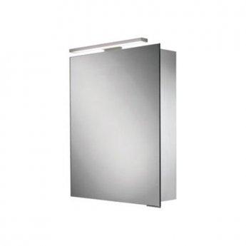 HiB Proton Aluminium LED Single Door Bathroom Cabinet 700mm/720mm H x 500mm W x 125mm D